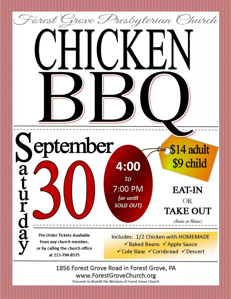 Chicken BBQ Flyer 2017